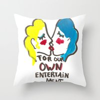 we are lesbians for our own entertainment Throw Pillow