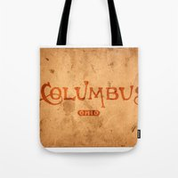 Columbus Ohio Vintage Lettering Tote Bag