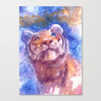 Waiting for the stars (tiger, big cat, cat, kitty, kitten, gato, chat) Canvas Print