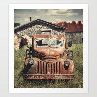 Forties Farm Truck Art Print