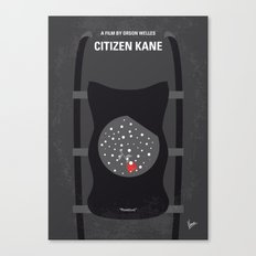 No605 My Citizen Kane minimal movie poster Canvas Print