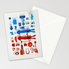 Red Squid, Blue Squid Stationery Cards