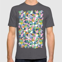 Abstraction Repeat Pink Mens Fitted Tee Asphalt SMALL