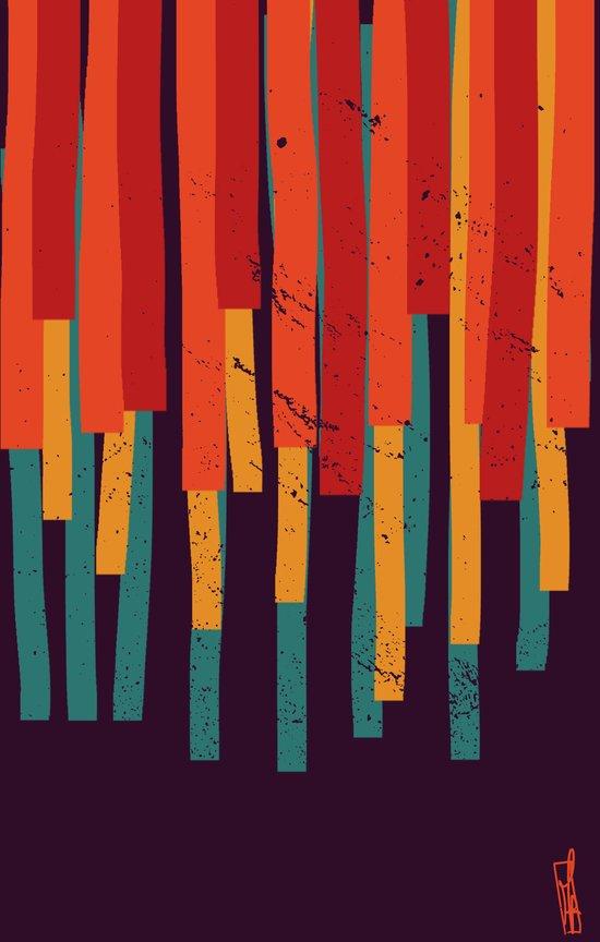 Squared Stripes Art Print