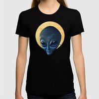 St. Alien Womens Fitted Tee Black SMALL