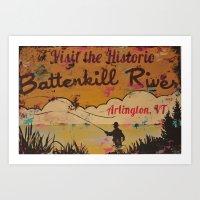 Battenkill River, Arling… Art Print