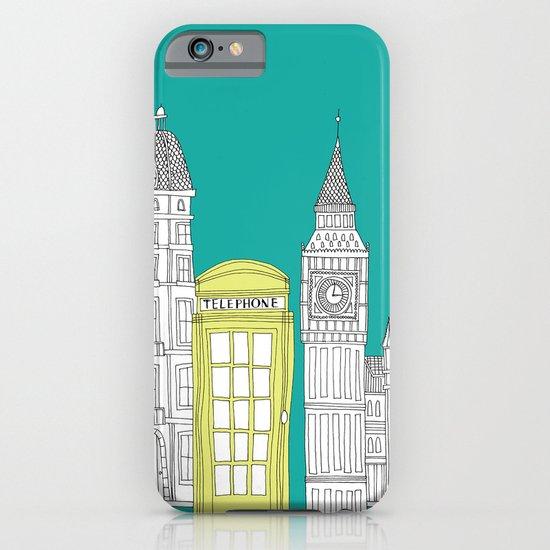 London - City prints // Red Telephone Box iPhone & iPod Case