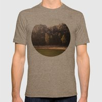 Crystal Lake, CA Mens Fitted Tee Tri-Coffee SMALL