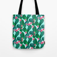 Jade Cactus Bloom Tote Bag