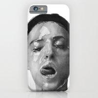 Monica Bellucci Traditional Portrait Print iPhone 6 Slim Case