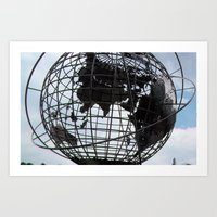 Trump Tower, Globe,  Art Print