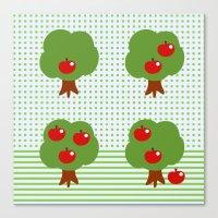 Newton's Apples Canvas Print