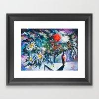 Flowered Expression Framed Art Print
