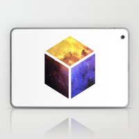 Nebula Cube - White Laptop & iPad Skin