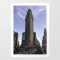 Flat Iron Ground View Art Print