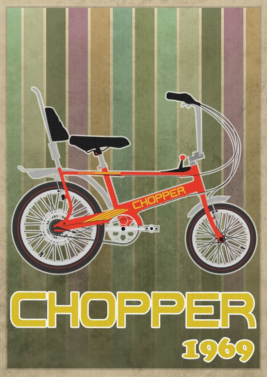 Chopper Bicycle Art Print