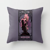 Black Lady Nouveau - Sailor Moon Throw Pillow