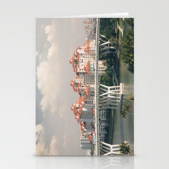 Red rooftops Stationery Card