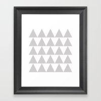 Grey Triangle /// www.pencilmeinstationery.com Framed Art Print