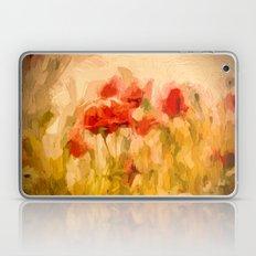Fiery poppies in a golden cornfield Laptop & iPad Skin