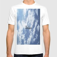 Believe Mens Fitted Tee White SMALL