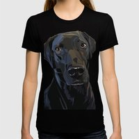 Jeb Lab Dog Womens Fitted Tee Black SMALL