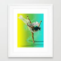 There Was A Ballerina Framed Art Print