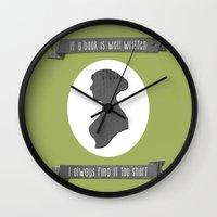 I Always Find Austen Too… Wall Clock