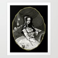Art Print featuring Bride Of The Monster by Abigail Larson