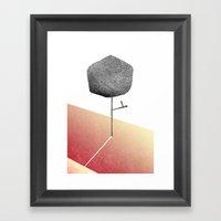 Mini Leaves Framed Art Print