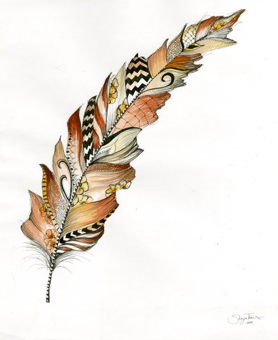Fall Feather  Art Print