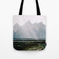 Afternoon Sun Over Teton… Tote Bag