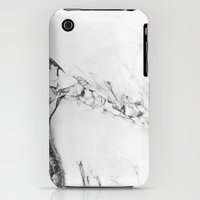 iPhone 3Gs & iPhone 3G Cases featuring Gray Marble by Lumen Bigott