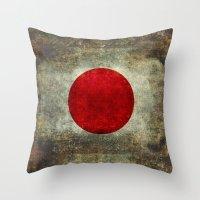 The national flag of Japan Throw Pillow