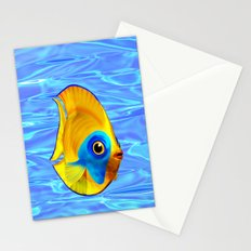 Tropical Fish on Clear Ocean Water 3D Stationery Cards