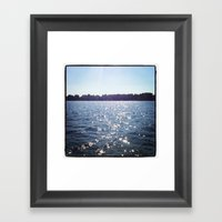 Sparkle Water Color Photography Framed Art Print