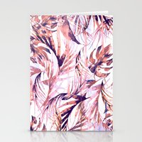 Coral Tropical Palms Stationery Cards