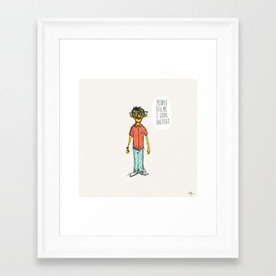 Sketchy Dude Framed Art Print