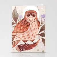 Owl Blooms Stationery Cards
