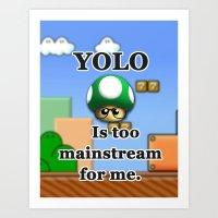YOLO 1Up Art Print