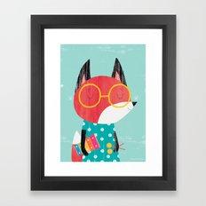 Xylophone Fox Framed Art Print