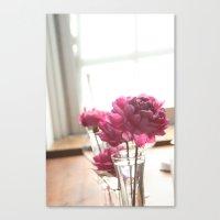 Fluttery Pink | Flowers Canvas Print