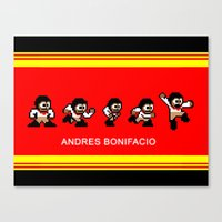 8-bit Andres 5 pose v2 Canvas Print