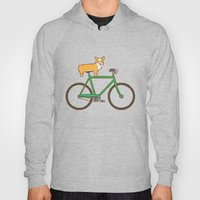 Corgi on a bike Hoody