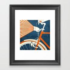 Bicycle Light Framed Art Print