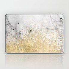 Gold Dust on Marble Laptop & iPad Skin
