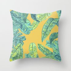 orange tropical daze Throw Pillow