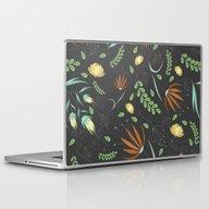 Floral Grey Pattern Laptop & iPad Skin
