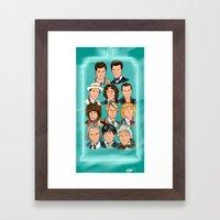 The Eleven Doctors Framed Art Print