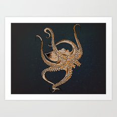 Embrace Of The Octopus Art Print